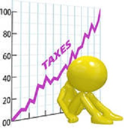 Clipart image depicting a tax increase
